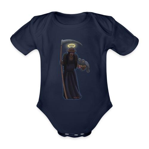 Malaria falciparum - schwarze Dame mit Sichel - Baby Bio-Kurzarm-Body