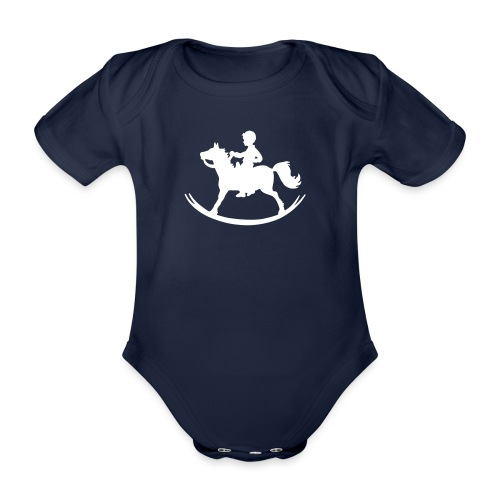 Rocking Horse - Boy - Baby Bio-Kurzarm-Body