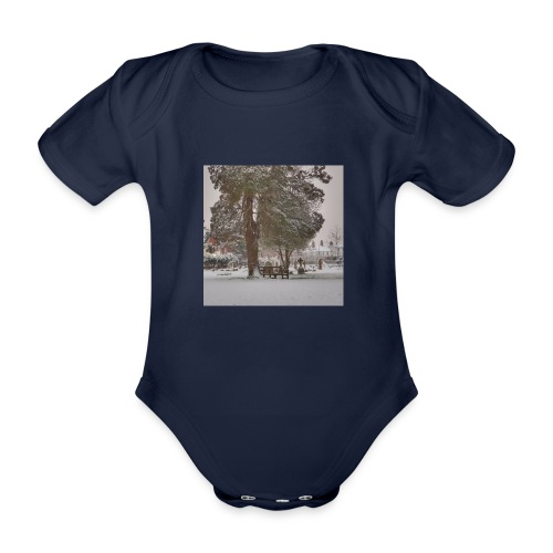 Graveyard In Winter - Organic Short-sleeved Baby Bodysuit