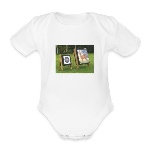7EE4ABA5 03CC 4458 8D34 B019DF4DD5F1 - Økologisk kortermet baby-body