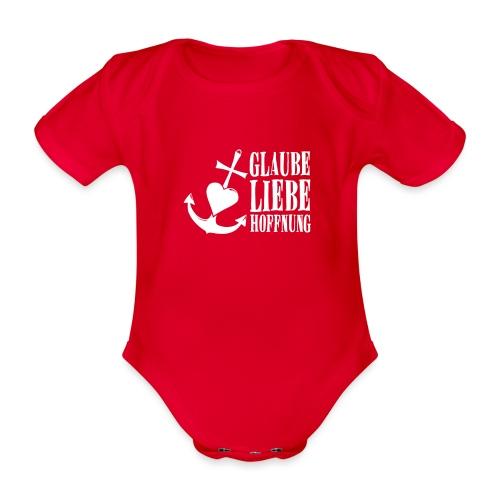 Glaube, Liebe, Hoffnung - Baby Bio-Kurzarm-Body
