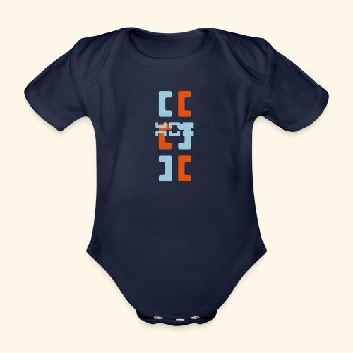 Hoa original logo v2 - Organic Short-sleeved Baby Bodysuit