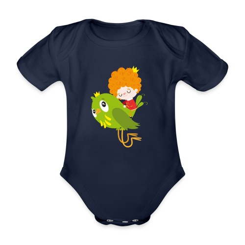 Nando flying - Organic Short-sleeved Baby Bodysuit