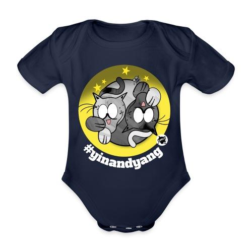 Astrokatze Zwillinge - Baby Bio-Kurzarm-Body