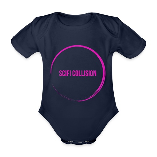 Pink Logo - Organic Short-sleeved Baby Bodysuit
