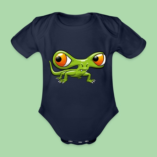 Monster Echse - Baby Bio-Kurzarm-Body
