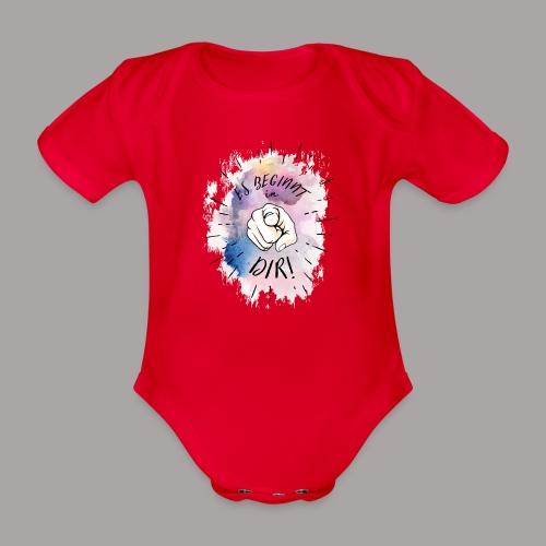 shirt bunt tshirt druck - Baby Bio-Kurzarm-Body