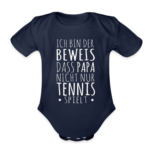 Tennis Papa Baby Beweis Vater Shirt Geschenk - Baby Bio-Kurzarm-Body