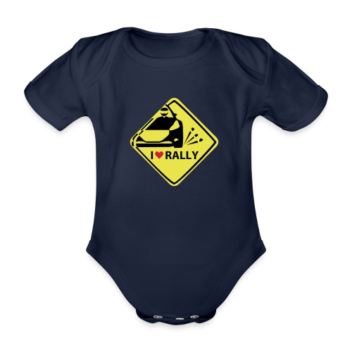 I like rally T-Shirt - Baby Bio-Kurzarm-Body
