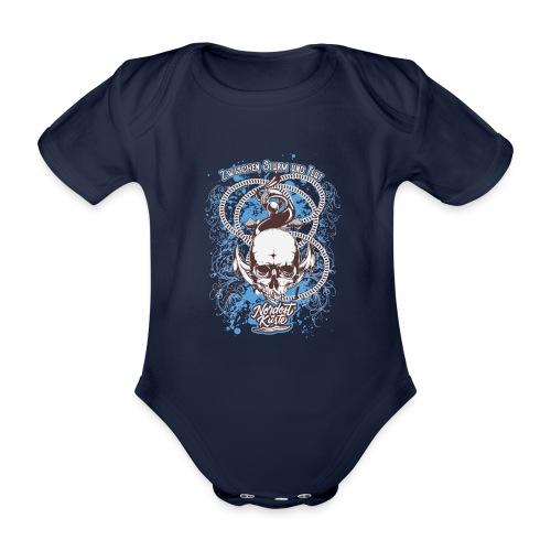 Skull Anker Design Art - Baby Bio-Kurzarm-Body
