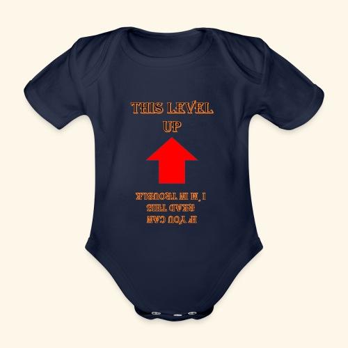 Level Trouble Geschenk - Baby Bio-Kurzarm-Body