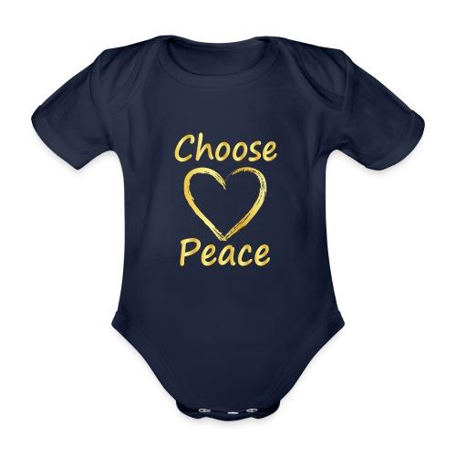 Choose Peace - Organic Short-sleeved Baby Bodysuit