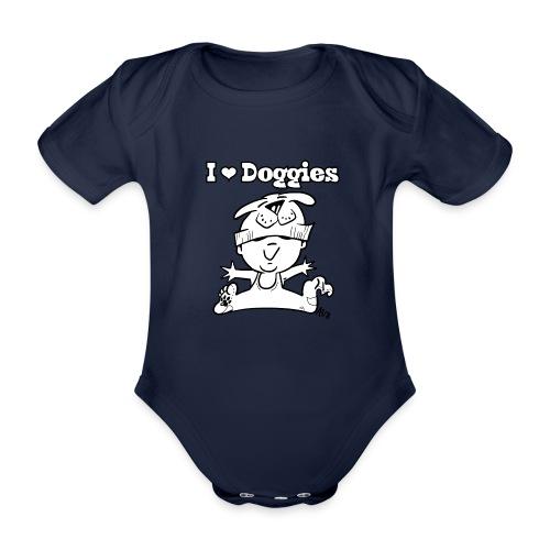 baby i love doggies - Baby bio-rompertje met korte mouwen