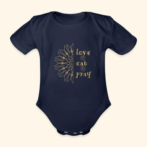 Eat Love & Pray - Organic Short-sleeved Baby Bodysuit