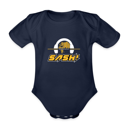 SASH! Logo 2020 Headfone - Organic Short-sleeved Baby Bodysuit