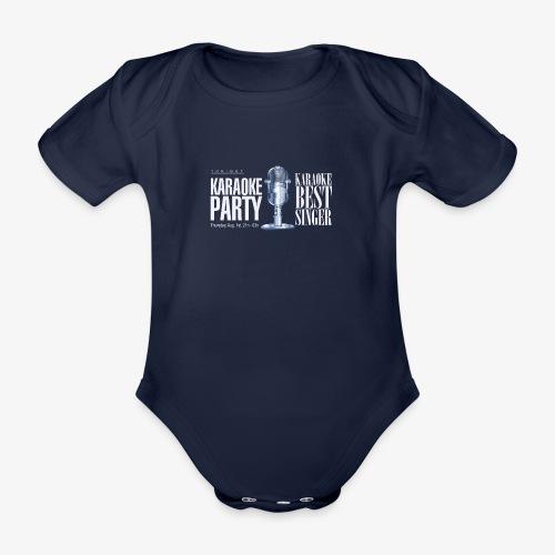 Karaoke party - Body orgánico de maga corta para bebé