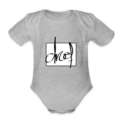 Droef.Gent logo zwart - Baby bio-rompertje met korte mouwen