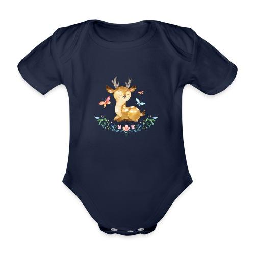 Forest5 - Baby bio-rompertje met korte mouwen