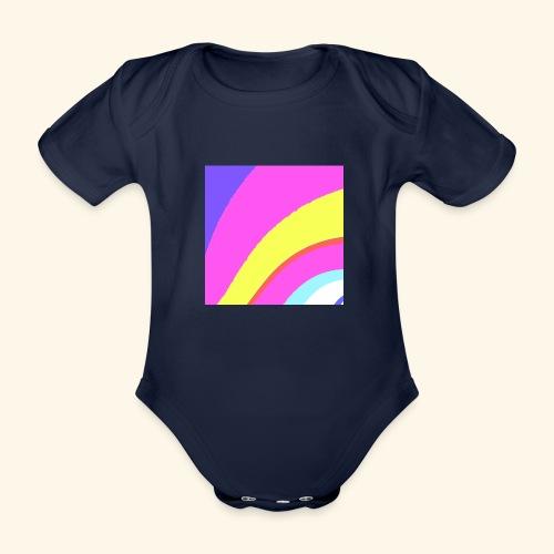 Curva colorata - Body ecologico per neonato a manica corta