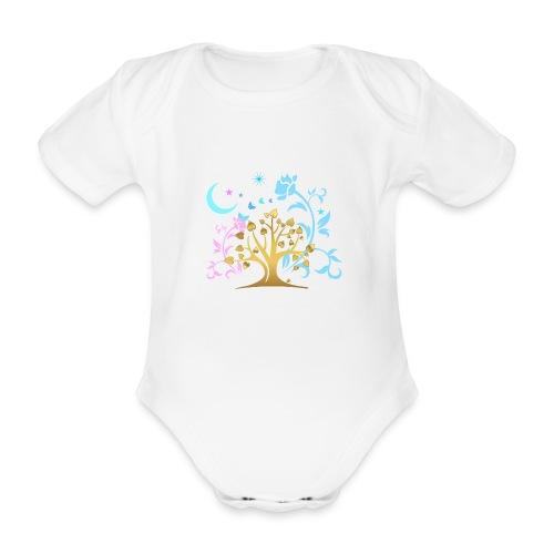 Mystic Tree - Baby Bio-Kurzarm-Body