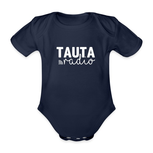 Radio Tauta Logo - Organic Short-sleeved Baby Bodysuit