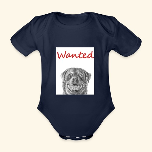 WANTED Rottweiler - Organic Short-sleeved Baby Bodysuit
