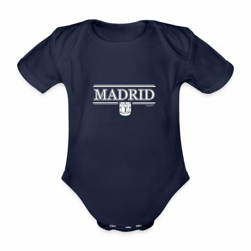 Camiseta Madrid Negra - Body orgánico de manga corta para bebé