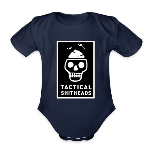 Tacshit Shitheadskull - Baby Bio-Kurzarm-Body
