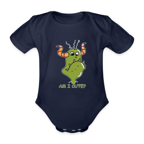 Cute monster - Organic Short-sleeved Baby Bodysuit