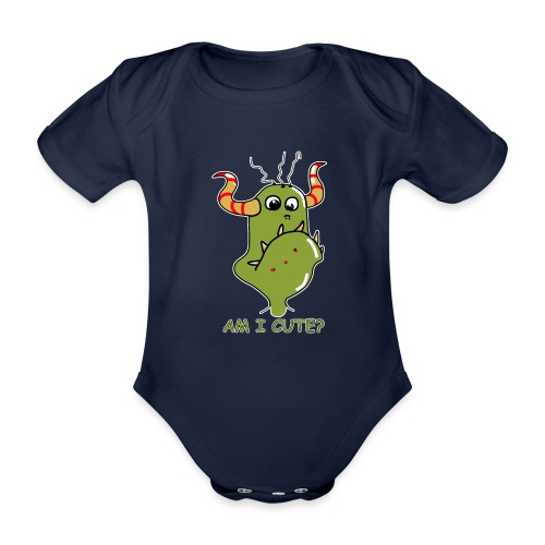 Cute monster - Organic Short-sleeved Baby Bodysuit