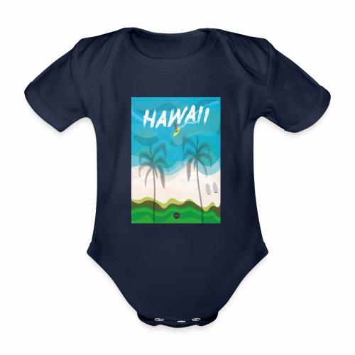 Hawaii - Organic Short-sleeved Baby Bodysuit