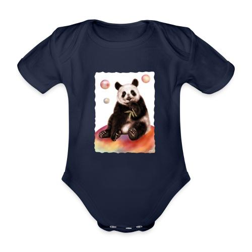 Panda World - Body ecologico per neonato a manica corta