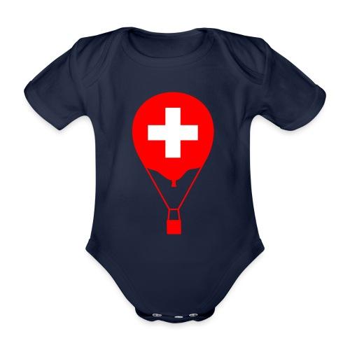 Gasballon im schweizer Design - Baby Bio-Kurzarm-Body