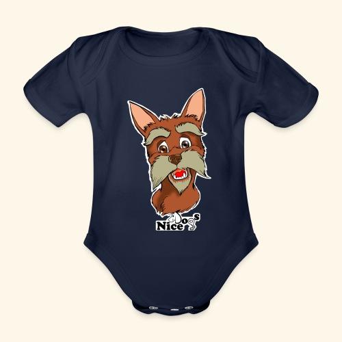 Nice Dogs schnauzer - Body ecologico per neonato a manica corta