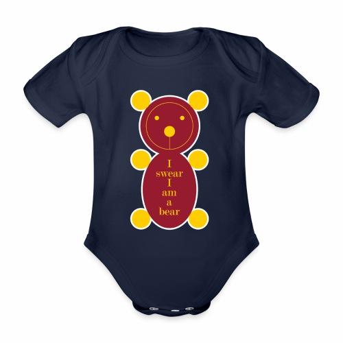I swear I am a bear 001 - Baby bio-rompertje met korte mouwen
