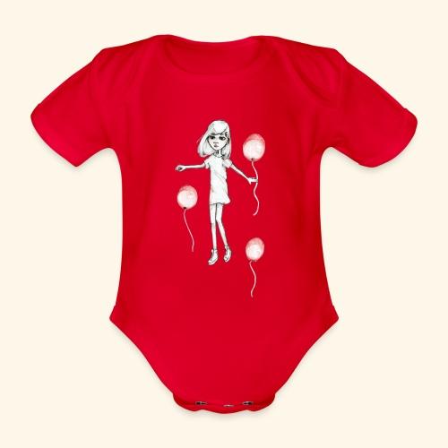 20180925 Baloon2 - Ekologisk kortärmad babybody