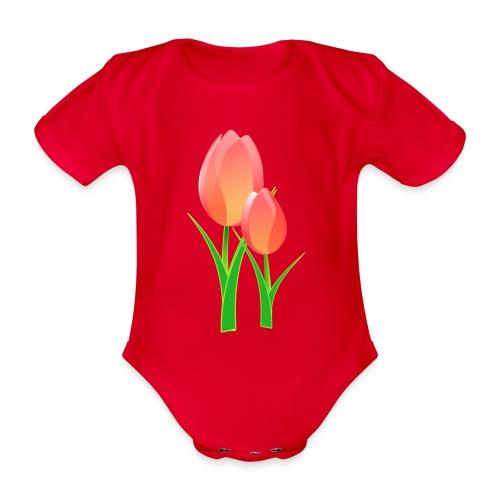 Belle fleur - Body Bébé bio manches courtes