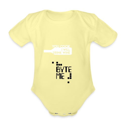 ByteMe - Kortærmet babybody, økologisk bomuld