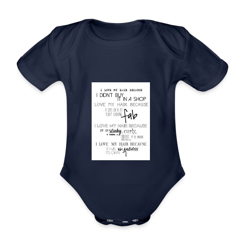 I LOVE MY HAIR - Organic Short-sleeved Baby Bodysuit