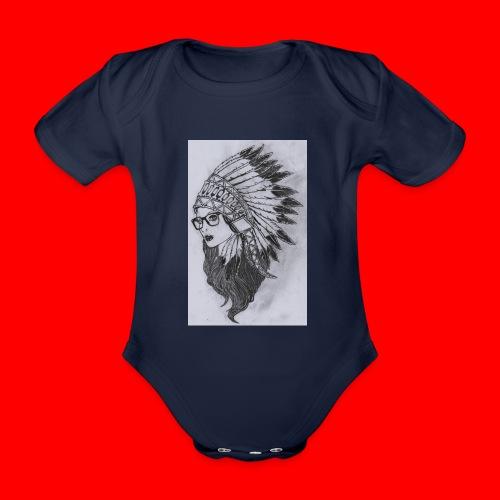 indian - Body ecologico per neonato a manica corta