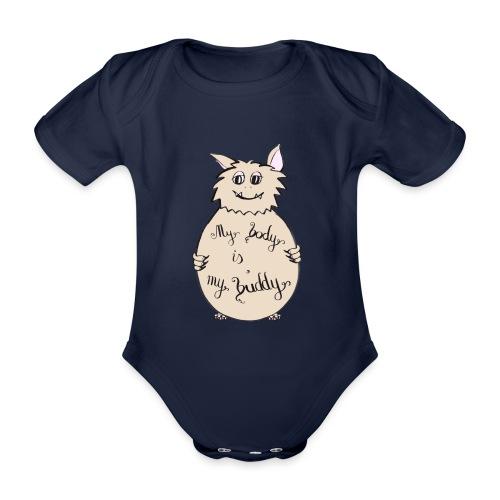 My body is my buddy - freundliches Monster - Baby Bio-Kurzarm-Body