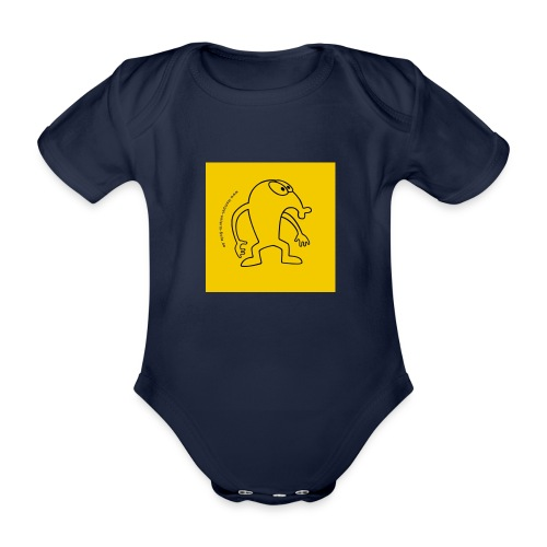 button vektor gelb - Baby Bio-Kurzarm-Body