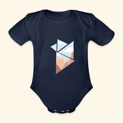 shattered - Ekologisk kortärmad babybody