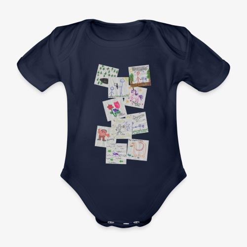 Drawings - Organic Short-sleeved Baby Bodysuit