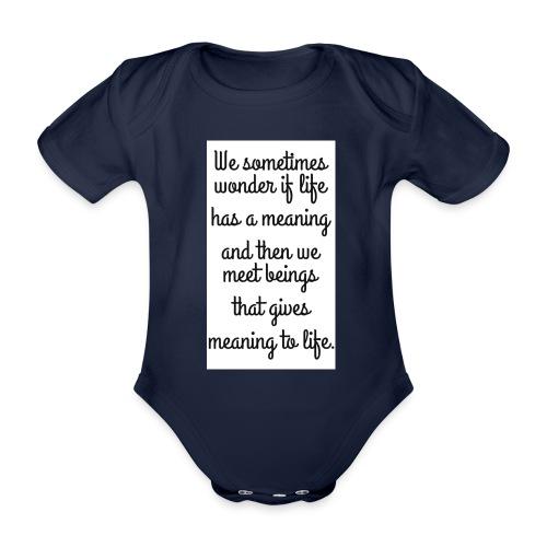 Phrase d'amour en anglais - Body Bébé bio manches courtes