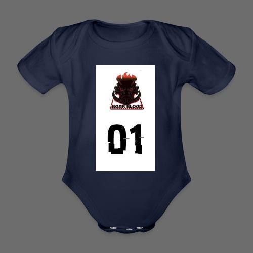 Boar blood 01 - Ekologiczne body niemowlęce z krótkim rękawem