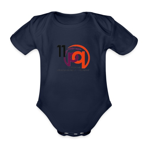 11q_logo_century - Baby Bio-Kurzarm-Body