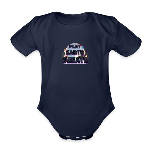 Flat Earth Debate - Organic Short-sleeved Baby Bodysuit