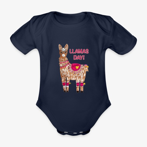 LLAMAS DAY! - Baby Bio-Kurzarm-Body