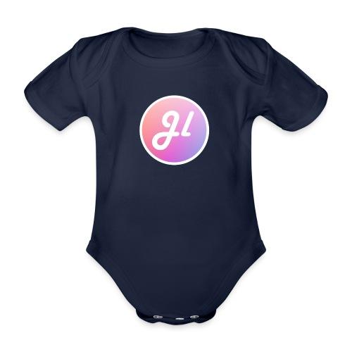 Just Lewis Circle Logo - Organic Short-sleeved Baby Bodysuit